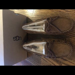 New in Box- UGG Dakota Slipper in Chestnut, Sz 7